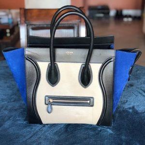 Celine Tricolor Mini luggage bag